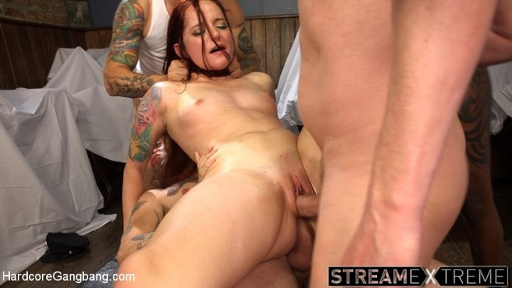 Hardcoregangbang.com – The URGE: No women are safe from.. Maci May & Mark Wood & Mr. Pete 2016 Anal