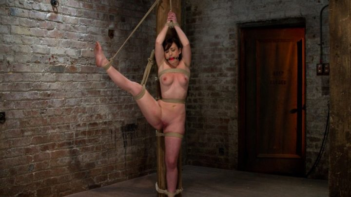 Hogtied.com – Bound with her leg up and wet.. Jennifer White 2010 Domination
