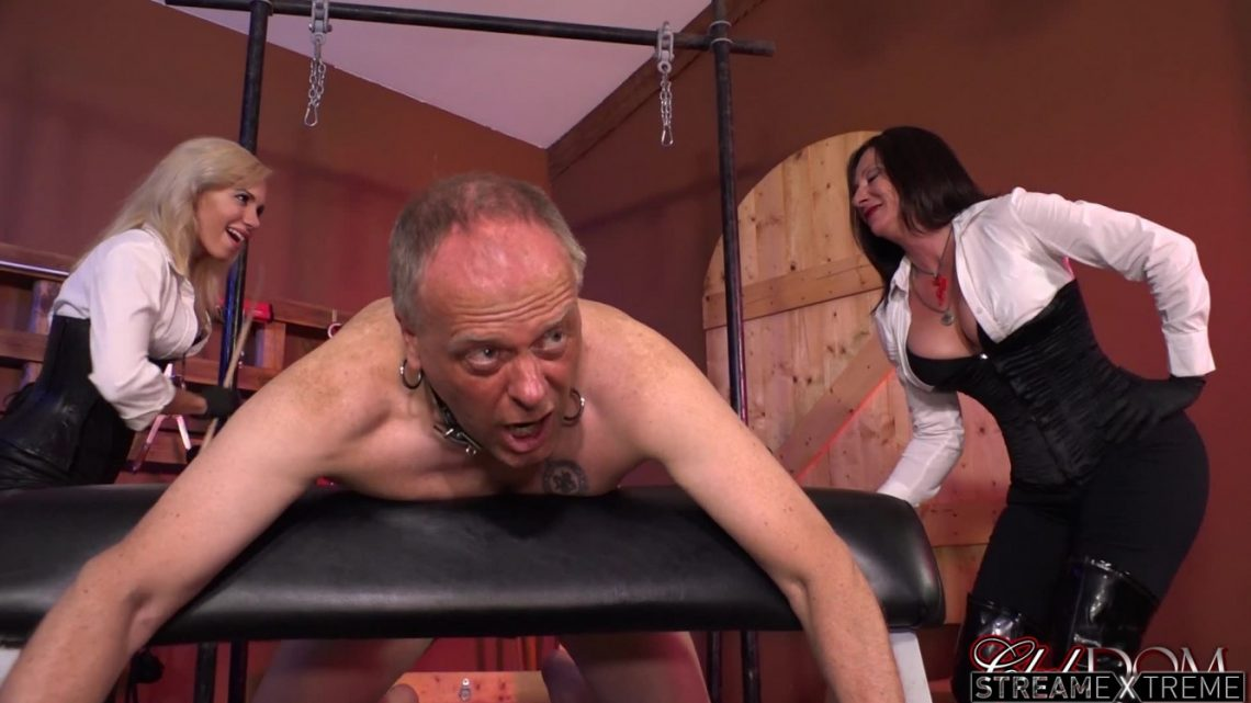 Clubdom.com – Venus & Kylie Caning in Dungeon Kylie Rogue 2015 Caning