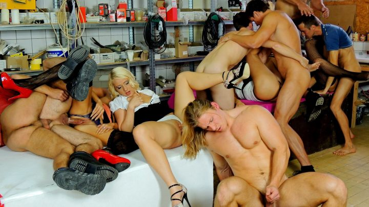 Bimaxx.com – Built For Bi Part 2 Eliss Fire & Rachel La Rouge & Kirsten Plant 2012 Orgy