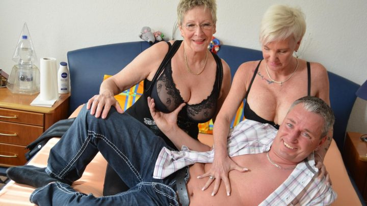 Xxxomas.com – Crazy hot German foursome with.. Annette Liselotte & Angelika J. & Ingolf 2019 Foursome