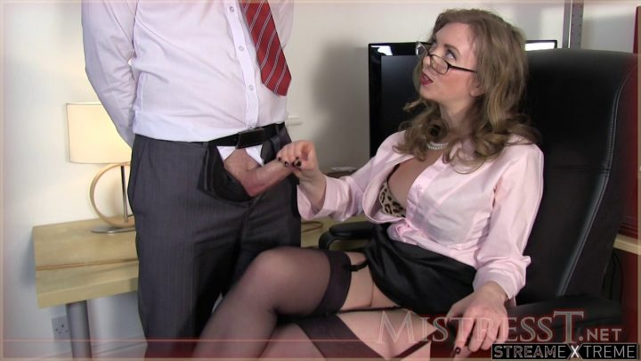 Mistresst.com – Testing New Office Fuck Toy  2013 Stockings