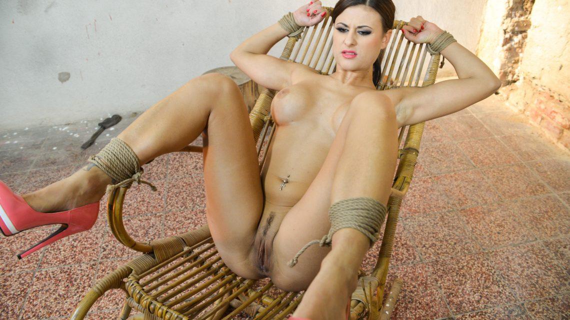 StrugglingBabes.com – Billie chair-bound mouth-stuffed.. Billie Star 2016 Big Tits