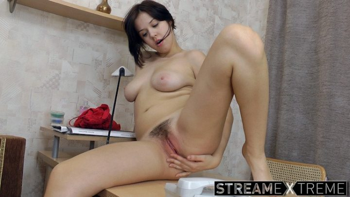 Wearehairy.com – Lina is playful while stripping.. Lina 2014 Large Breasts