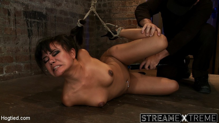 Hogtied.com – Hot Asian bound tightlyGets skull.. Annie Cruz 2011 Rope Bondage